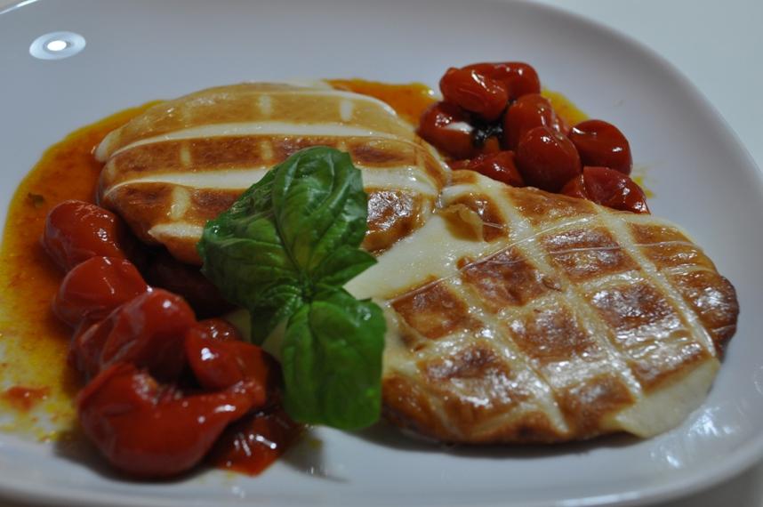 ... & Scamorza alla Piastra servito con verdure grigliate - Kitchenette